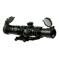 Tactical 1.5 4x 30 Rifle Scope Chevron Reticle with Cantilever mount Hunting Shooting fit AR15 .223 5.56mm HT6 0065