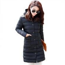 2016 новых женских зимняя куртка Корейских студентов хлопок долго ватник теплая одежда горячей продажи случайные парки оптовая 7330