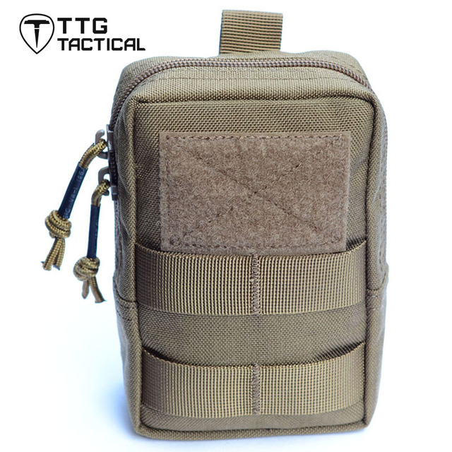 TTGTACTICAL Mens Militar Equipo Militar EDC Paquete Bolsa de Cintura Bolsas Molle EDC Bolsas Colgajo Cinturón Pochete Coyote Brown