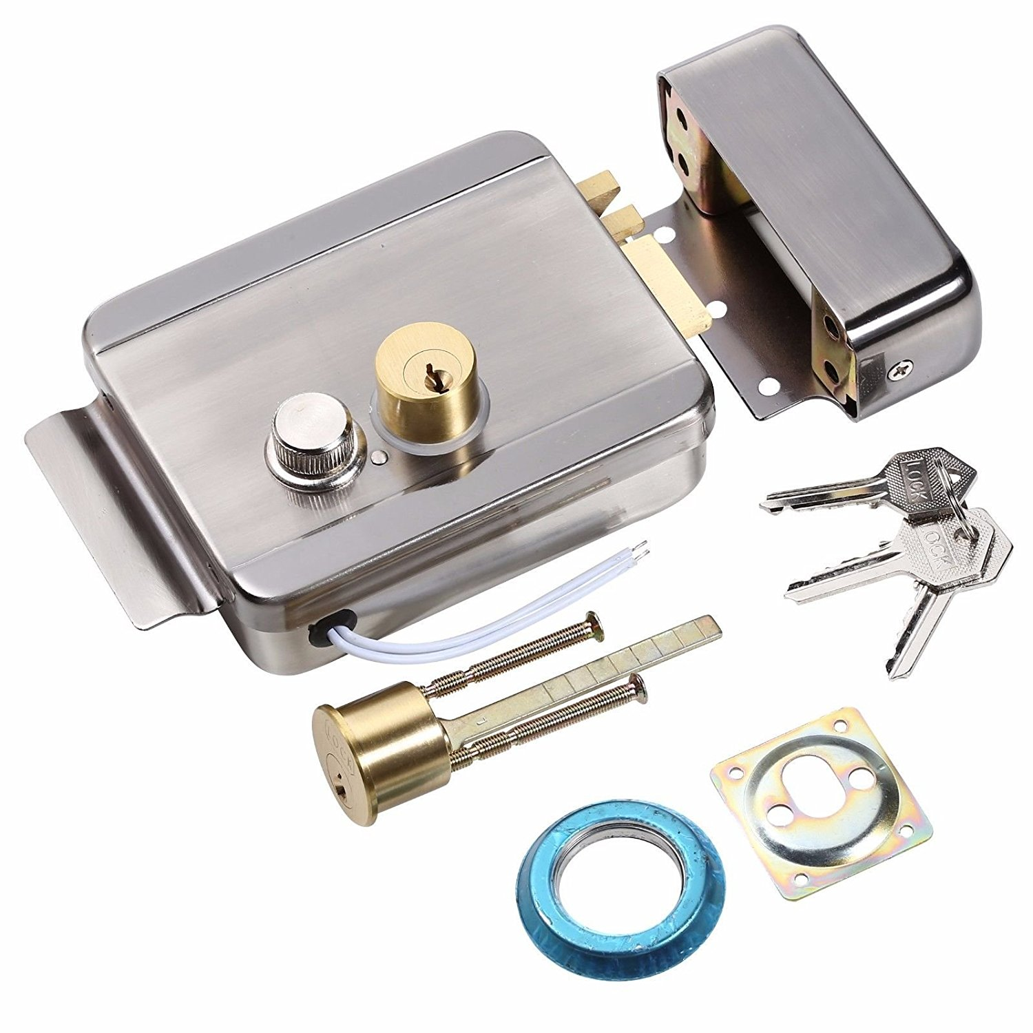 OBO HANDS Anti-theft Electric Control Release Rim Door Lock Fail Secure Stainless Steel obo hands ansi standard heavy duty electric strike lock fail secure no mode for wooden metal pvc door