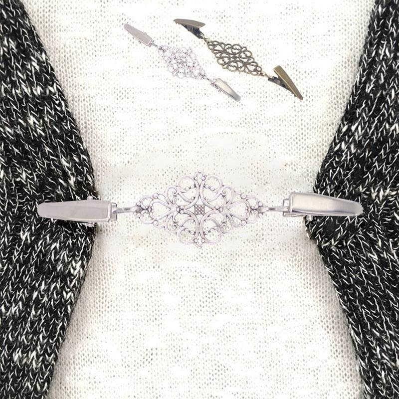 2019 الرجعية الأزياء سترة شال مقاطع سترة طوق مقاطع حامل الأربطة الاكسسوارات والمجوهرات هدية