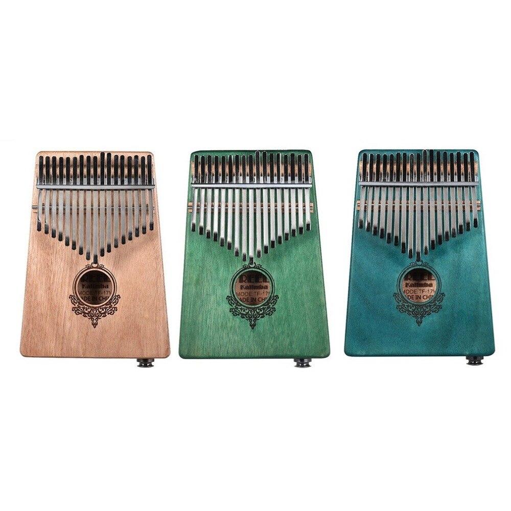 17 ключ калимба в африканском стиле твердого красного дерева палец фортепиано санза твердой древесины калимба Mbira палец с электрическ