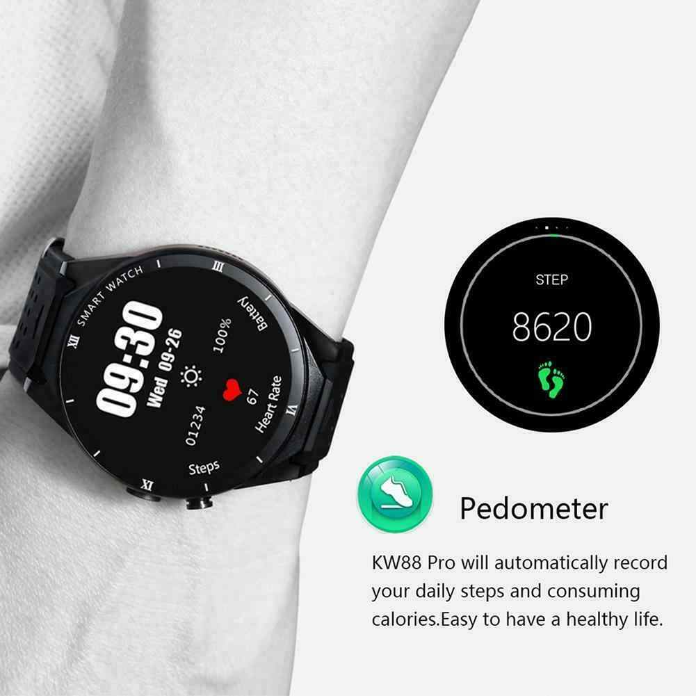 KW88 Pro Android 7.0 Đồng Hồ Thông Minh 1 GB + 16 GB Bluetooth 4.0 WIFI 3G Đồng Hồ Thông Minh SmartWatch Nam Đồng Hồ Đeo Tay Hỗ Trợ google Store Thoại GPS Bản Đồ
