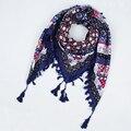 2017 Hot Venda Nova Moda Feminina Big Praça Scarf Impresso Mulheres Inverno senhoras Cachecóis Wraps algodão india floural headband CX003