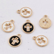 SONGLONG Zinc alloy material cross Gold pendant for bracelet/ncecklace/keychain Handworked Diy Jewelry