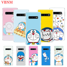 Doraemon A Blue TPU Patterned Case for Samsung Galaxy A7 A6 J6 A8 Plus A9 J5 J8 J4 2018 Gift Fit Customized Cases Coque