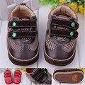 Del otoño del resorte del niño primer caminante zapatos de bebé niño niña de goma dura del pesebre Sneaker Prewalker Sapatos