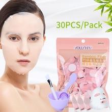 YOUSHA 34PCS SET DIY Compressed Face Mask Paper Bowl Facial Deep Cleaning Adsorption Blackhead Face Care
