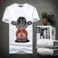 Новый 2017 футболки с короткими рукавами мужчины Китайский ветер хлопок вышивка вокруг шеи Футболку