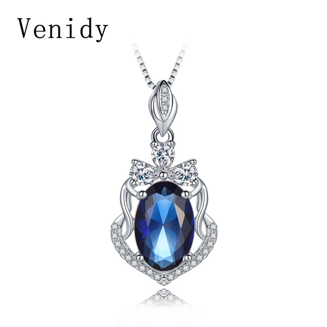 Venidy sterling silver 925 jewelry sapphire necklaces pendants venidy sterling silver 925 jewelry sapphire necklaces pendants necklace women bijoux femme sterling silver aloadofball Image collections