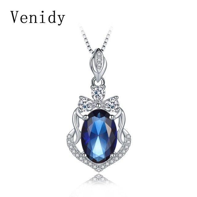 Venidy sterling silver 925 jewelry sapphire necklaces pendants venidy sterling silver 925 jewelry sapphire necklaces pendants necklace women bijoux femme sterling silver aloadofball Choice Image