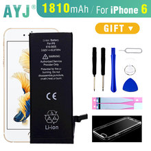 AYJ Original Battery For iphone 6 6G 6S Plus Real Capacity mobile phone replacement battery with free Case+Tools Kit 0 cycle