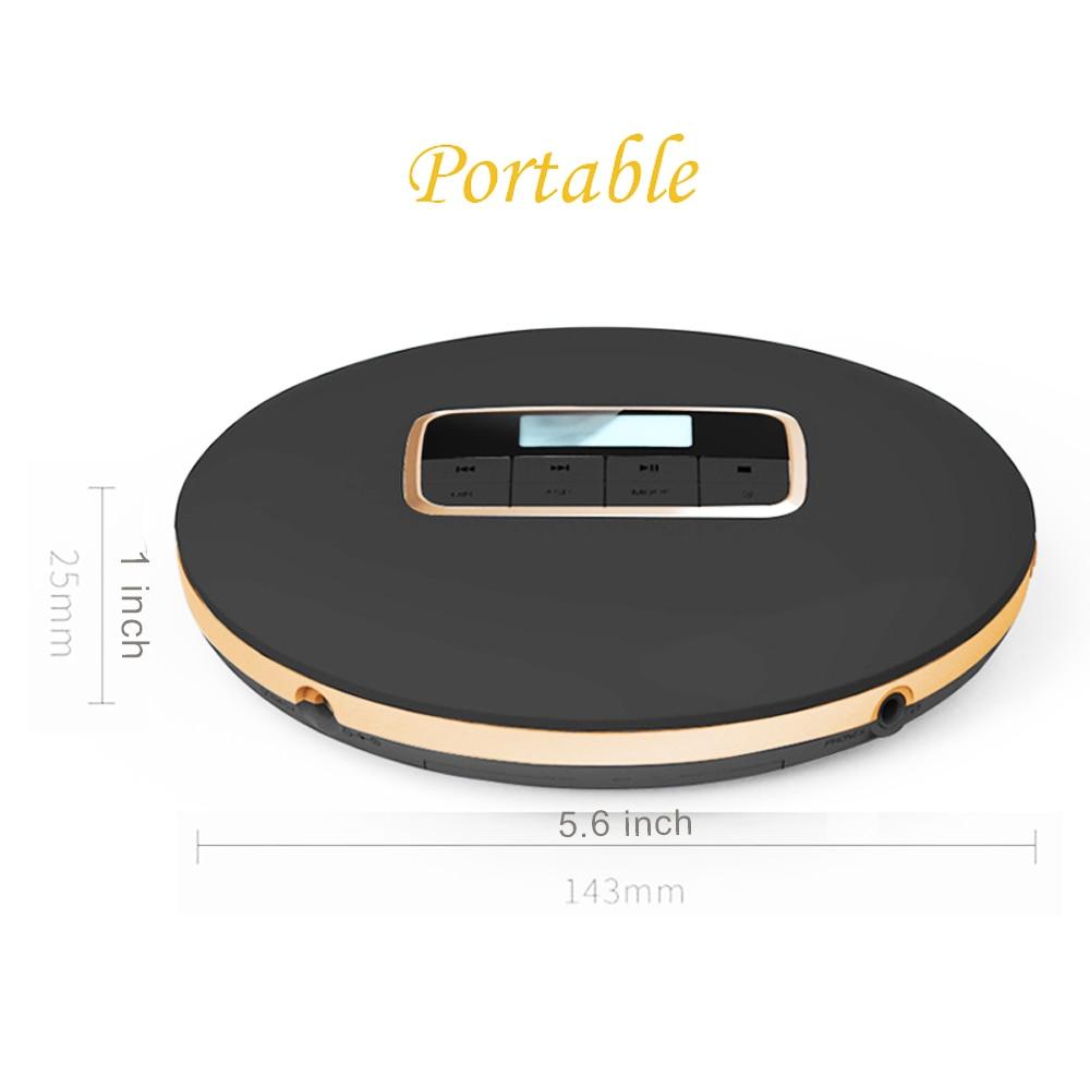 HOTT portable CD lecteur, personnel compact disc player, cd Walkman, effets sonores comprennent Plat/BBS/Pop/Jazz/Rock/classique