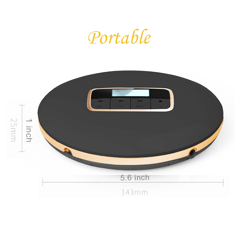 HOTT portable CD player LED display cd Walkman play disk of CD-R/CD-RW/MP3 sound effects include Flat/BBS/Pop/Jazz/Rock/classic effects of khat catha edulis exercise
