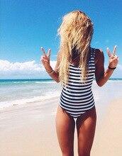 new one piece swimsuit striped swimwear bodies overall tights pad femme feminino moda praia sport suit army ocean beach bathing