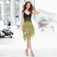 Weddings Events Special Occasion Lace cocktail Dresses Sequin Fancy Flowing For Party Evening 2016 EP00045