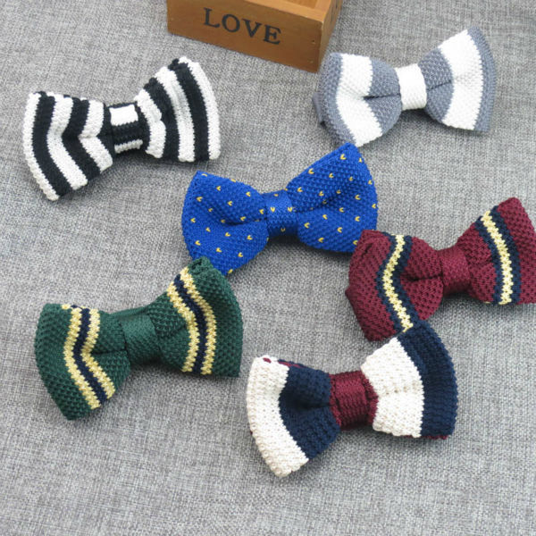 All Sorts Of Design Thick Knit Bow Tie Fashion Style Restoring