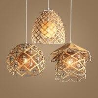 TUDA Retro Chandelier Bar Restaurant Tea Shop Chandeliers rattan rope nest Garden Lamp Fashion Design Home Decor E27 110V 220V