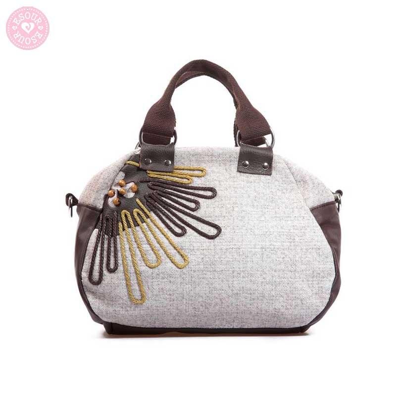 New style women embroidery shoulder bag women hobos bag fashion messenger bags bolsa feminina