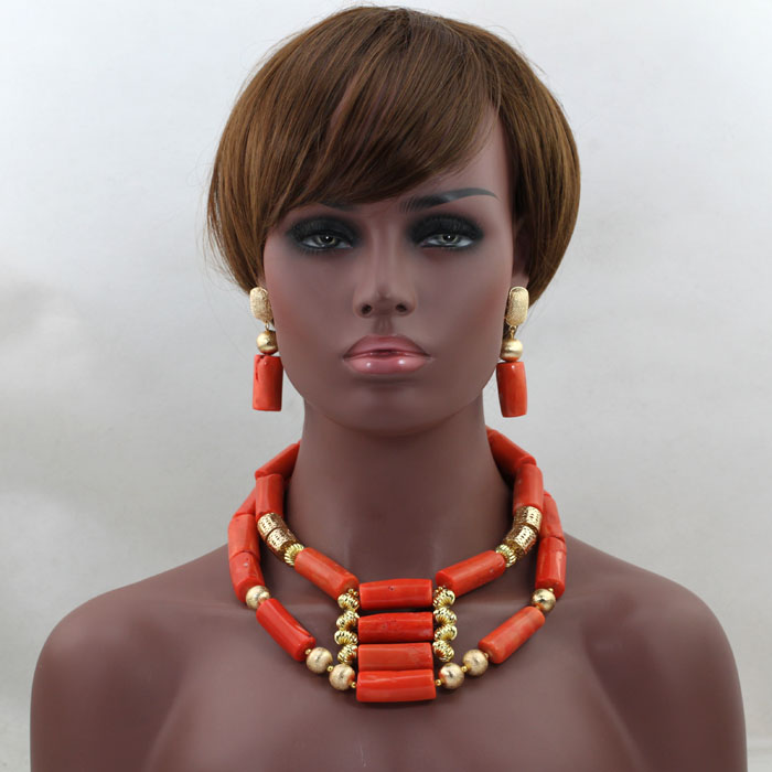 Здесь продается  2017 Fashion Orange  Bridal Beads Nigerian Set New African Coral  Set  For Wedding Large Stock  Wholesale  Free Shipping  hx355  Ювелирные изделия и часы