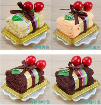 50 pieces Favor Cake towel wholesale wedding supplies small square box Swiss roll