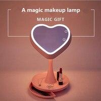 JIPUSH creative gift cosmetic mirror lamp store beauty make up mirror store beauty make up multi functional desk lamp