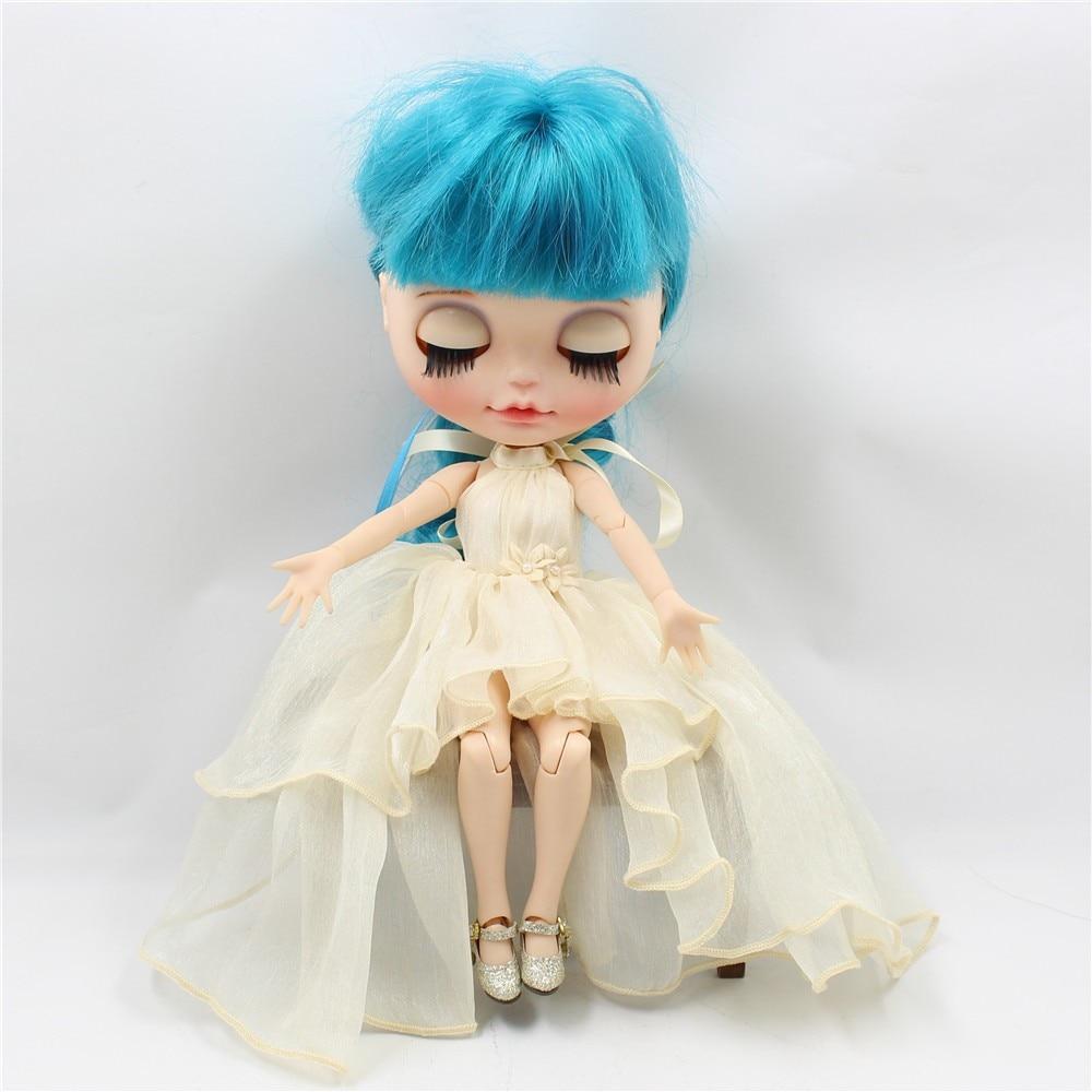 Neo Blythe Doll Chiffon Dress with Flower 11