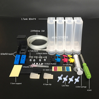 Evrensel DIY CISS kitleri için tam aksesuarları ile 4 renk CISS mürekkep tankı HP 60 61 122 300 301 816 817 93 94 Mürekkep Ciss