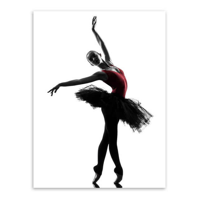 Modern Black White Ballet Dancer Silhouette Beauty Girl Photo Art Print Poster Wall Picture Canvas Painting Ballerina Home Decor Beautiful Girls Photos Paintings Ballerinasart Print Poster Aliexpress