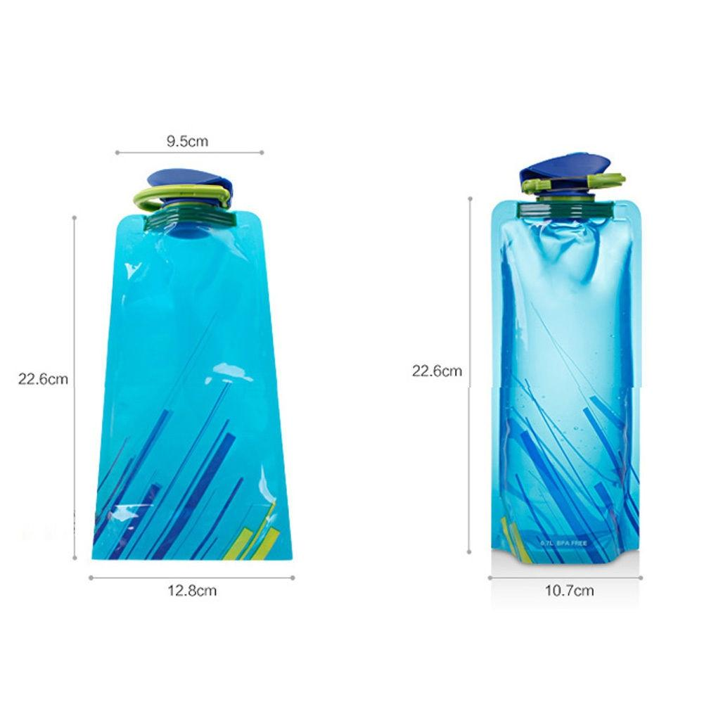 Mounchain 700ml Foldable Water Bottle Collapse Water Bag for Outdoor Camping Hiking Riding Fishing