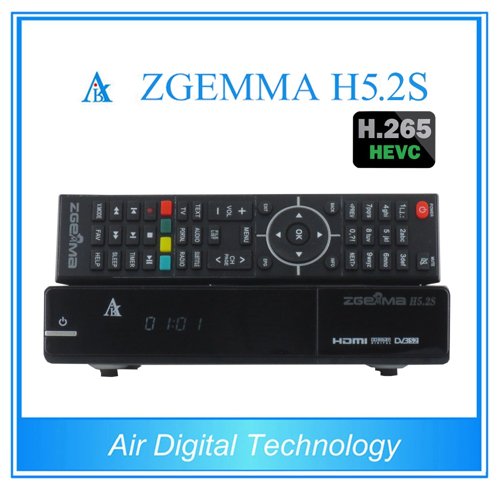 2 pcs/lot zgemma h5.2s twin tuner dvb s2 satellite receiver h.265 decoder 2 pcs lot