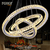 Hot Sale LED K9 Crystal Ring Chandelier Light DIY Lamp Lustres De Cristal Suspension Modern LED