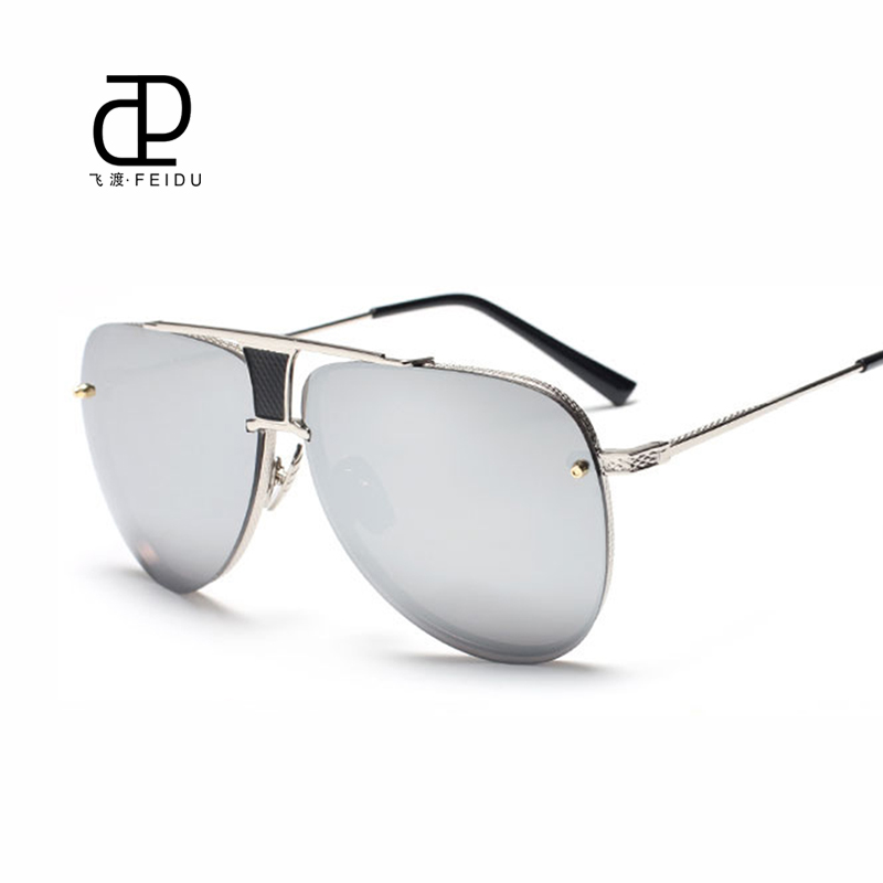 673cac9c164 FEIDU Fashion Sunglasses Female Brand Sun glasses Women Designer Cat Eye  Glasses Oversized Glasses Crafts Metal Temples With Box-in Sunglasses from  Apparel ...