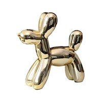 Balloon Dog Piggy Bank Stainless Steel Crafts Money Boxes Modern Simple Home Decorations Statues Desktop Ornament Accessories