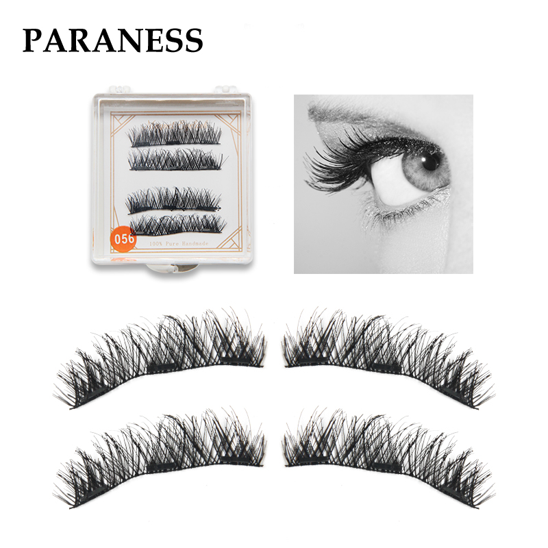 false lashes aplicador 2Pairs Magnetic Eyelashes Extension Natural False Eyelashes on magnets 3D Magnetic Fake Eye Lashes Makeup