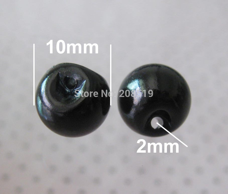 NB0168 ABS pearl button 200pcs/lot 10mm Black buttons clothes accessory
