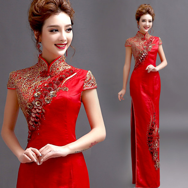 Online Shop chinese traditional cheongsam embroidery dress ...