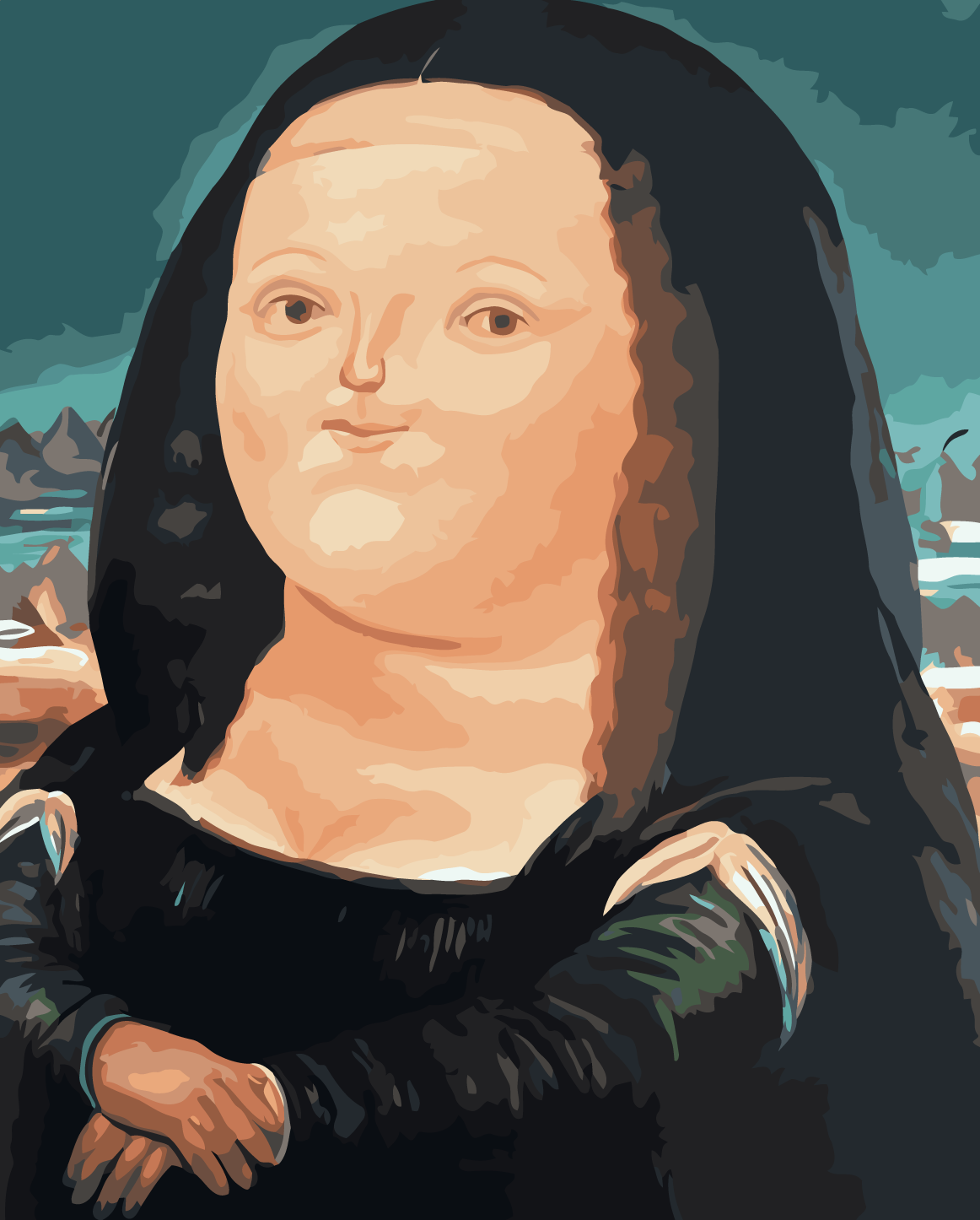Cheap Mona Lisa Landscape on Canvas Wall Art
