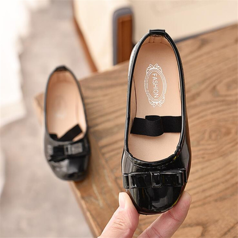 2019 Spring Autumn Children Dancing Shoes with Elastic Band Girls Ballet Shoes Cute Bowtie Toddler Girl Shoes