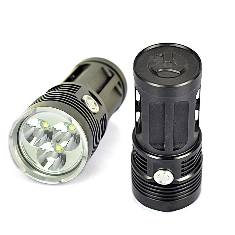 купить 2015 Brand New CrazyFire LED Flashlight 3800 Lumen 3x CREE XML 3T6 LED Linternas 1/2/3/4 18650 Torch For Hunting Work Camping недорого