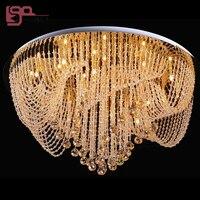 Новый Дизайн Круглый Хрустальная люстра Потолочная светильники современного освещения для гостиной