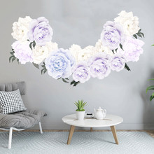 Dropshipping  Peony Rose Flowers Wall Art Sticker Decals Kid