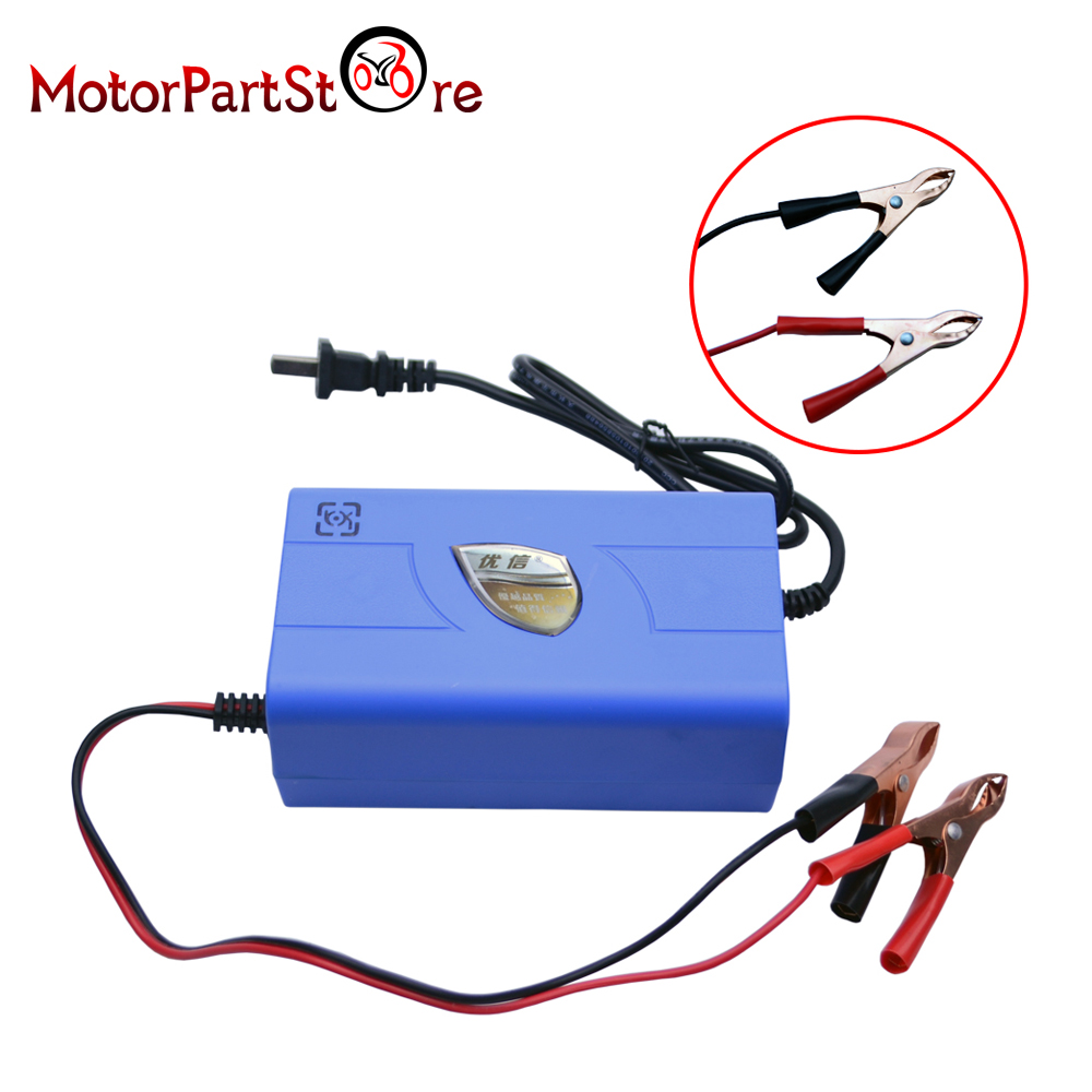 12V 6A Motorcycle Battery Charger Car Boat Marine Maintainer Automatic Power Supply Adaptor #