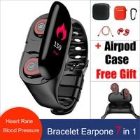 Smart Watch Men Women Bluetooth Headphone &headsets Hate Rate Blood Pressure Monitor Sport WristBand Fitness Tracker Bracelet