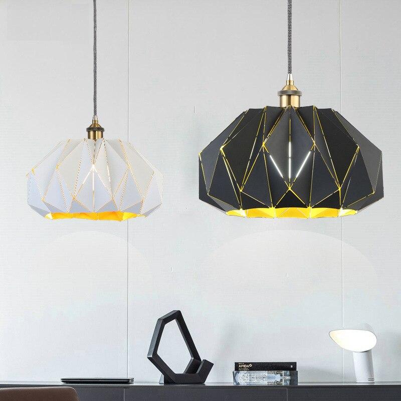 modern personality single head iron pendant light restaurant bar retro industrial  coffee shop hanging lighting