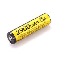 Nitecore nl1829lthp 2900 mah 8a 18650-40 저온 내성 고성능 충전식 3.6 v 리튬 이온 배터리