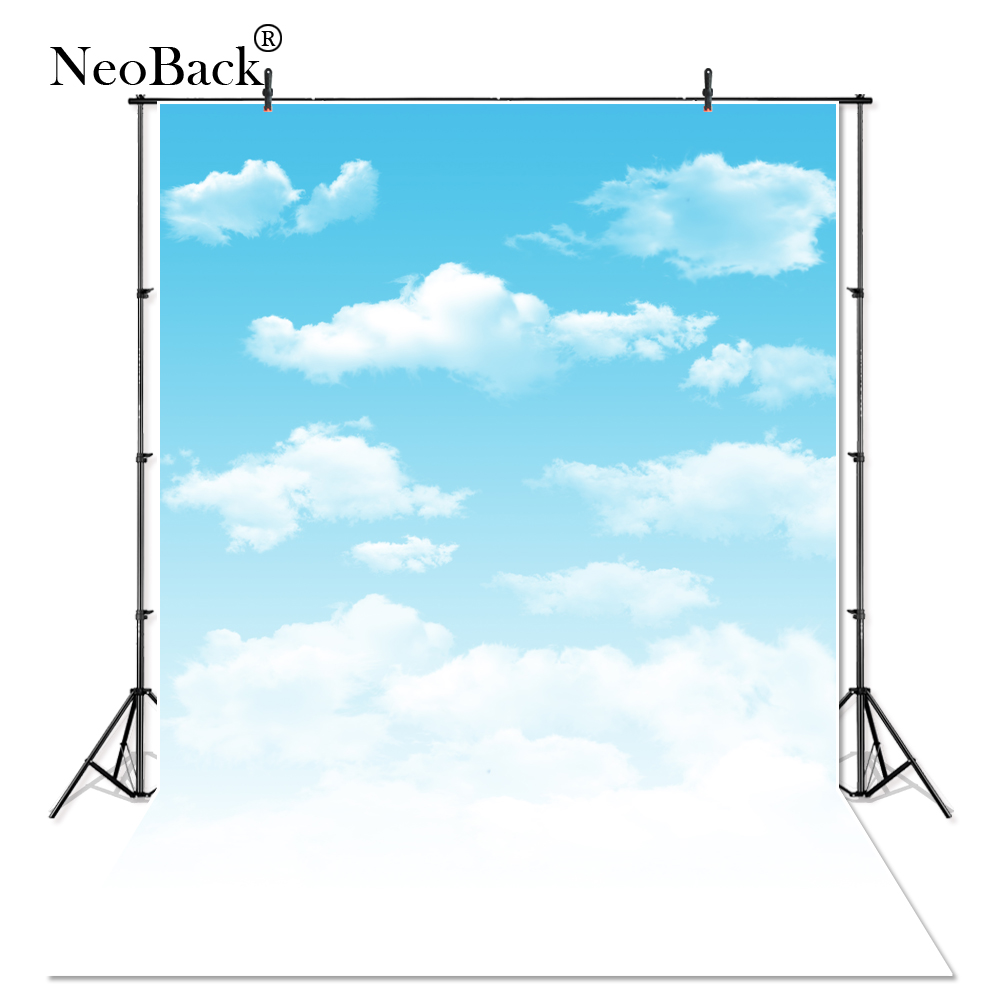NeoBack 5x7ft White Cloud Blue Sky Photography Backdrops Children indoor Studio Photo Backdrop Studio Photo Background B1045