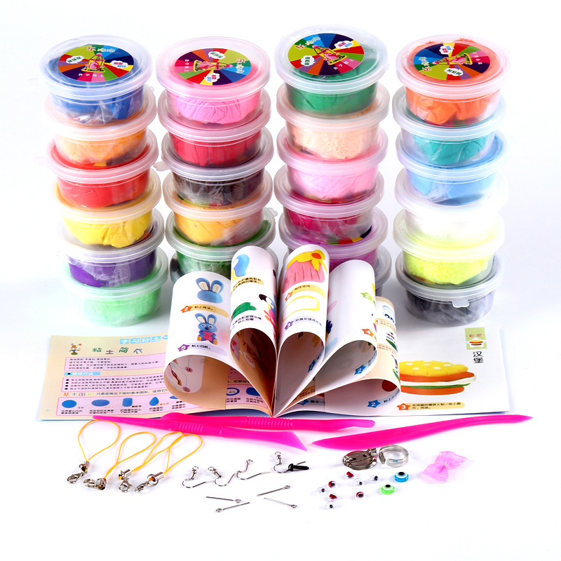 2018 sell like hot cakes Super light clay 24 color box New type of silly putty Children's DIY props 15*22*13cm Early education