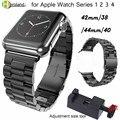 Ремешок для часов из нержавеющей стали для iWatch Apple Watch  38  40  42  44 мм  1  2  3  4  сменный ремешок для наручных часов