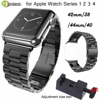 цена на Stainless Steel Watchband for iWatch Apple Watch 38mm 40mm 42mm 44mm Series 1 2 3 4 Wrist Band Link belt Strap Replacement strap